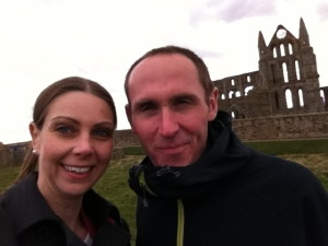 with chris at the abbey