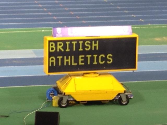 British Athletics sign indoor champs 2016